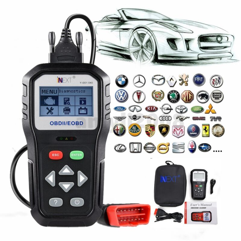Automotive OBD2 EOBD Clear/ Erase ECU Code Reader Scanner Car Diagnostic Tool