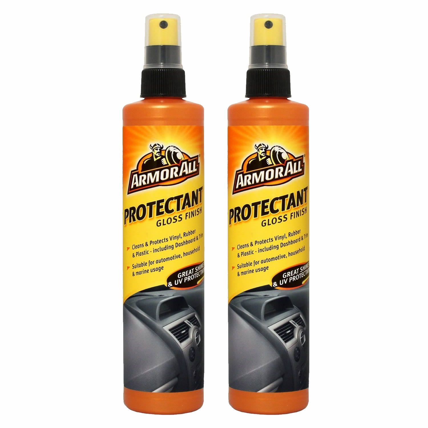 2 x ARMORALL PROTECTANT GLOSS FINISH INTERIOR CLEANER CAR VAN TRIM DASH 300ml