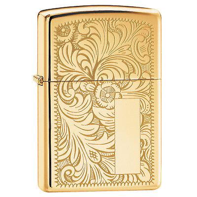 Zippo Venetian Lighter High Polish Brass 352B