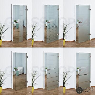 Glastür Studio / Office in 58,4 - 70,9 - 83,4 oder 95,9 cm Glas Tür Zimmertür