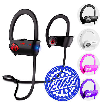 TREBLAB XR500 Bluetooth Headphones Best Wireless Earbuds w/ Mic IPX7 (Best Computer Mics)