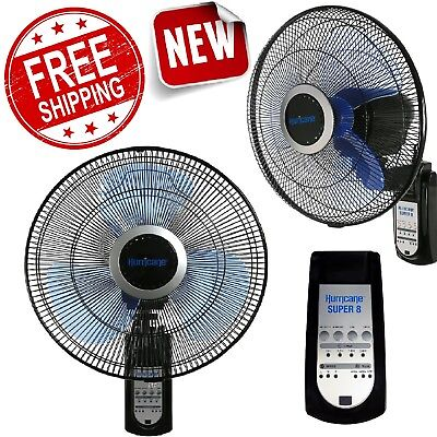 (Wall Mount Fan Remote Control 3-Speed Oscillating Ventilator 16 Inch Air Cooler)