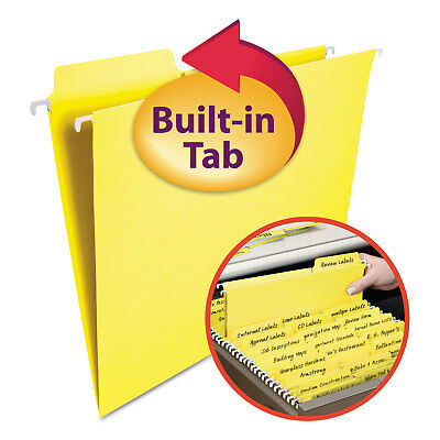 - Smead FasTab Hanging File Folders Letter Yellow 20/Box 64097