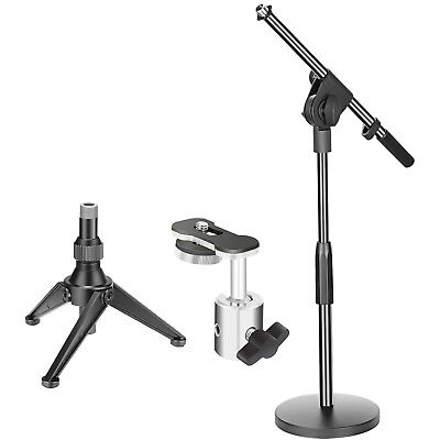 - Desktop Microphone Tripod Stand and Boom Arm Mono Stand and DSLR Adapter