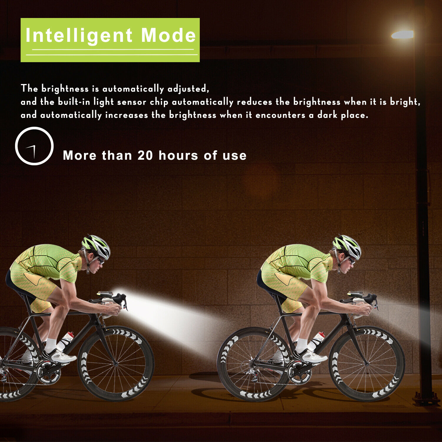 USB Rechargeable LED Bicycle Headlight Bike Head Light Front Lamp Cycling  Horn