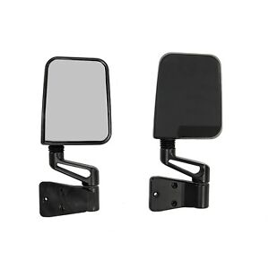Rugged Ridge SideView Door Mirrors PAIR for Jeep Wrangler TJ YJ 87-06 11002.03