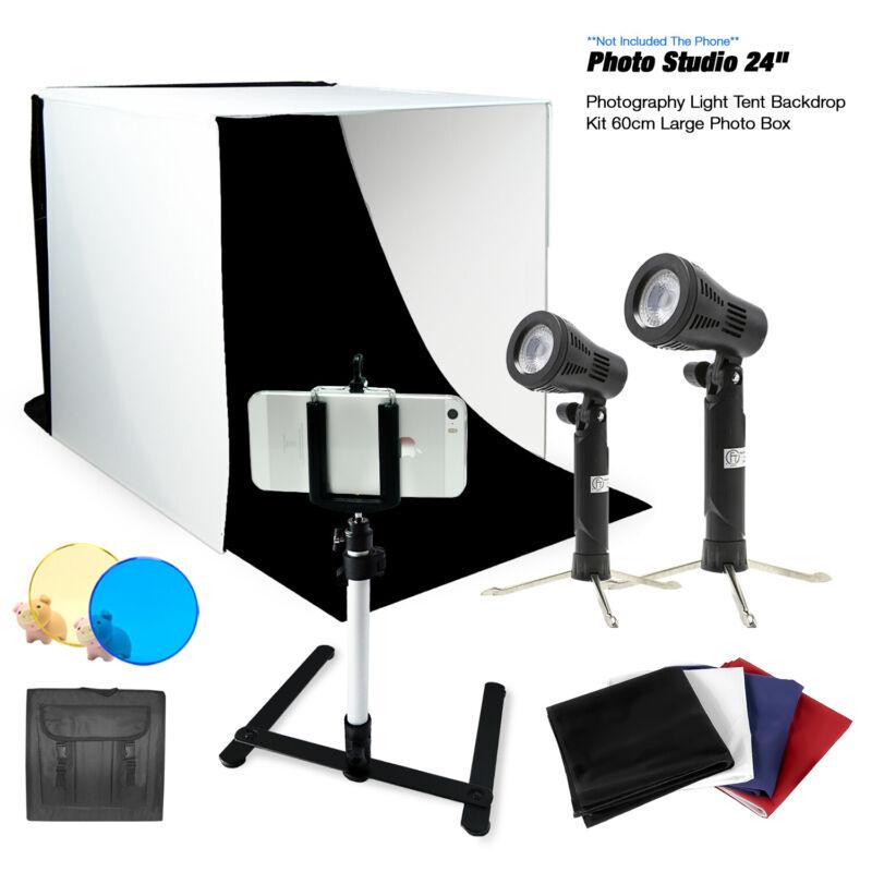 Photography Portable Light Room Box Lighting Tent Kit with iPhone Samsung Tripod
