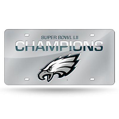 2018 Philadelphia Eagles Super Bowl 52 Champions Laser Cut Mirror License Plate