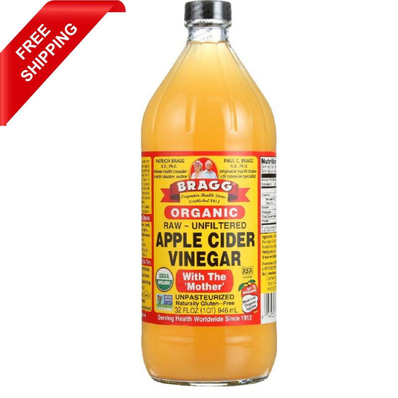 Bragg Organic Raw Unfiltered Apple Cider Vinegar with Mother 32 Fl Oz