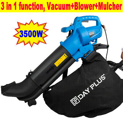 3500W 3 in 1 Garden Vacuum for Leaves Leaf Vacs Blower Hoover Long 10m Cable 🍂
