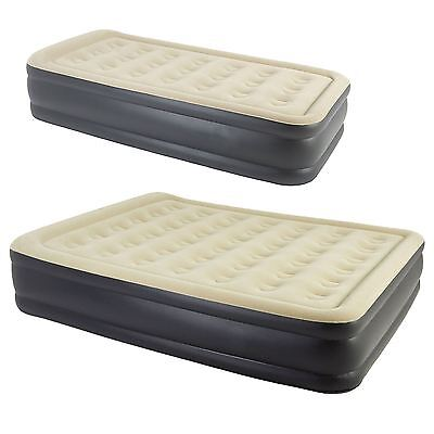 Single/ Double High Raised Inflatable Air Matress Bed W Buil