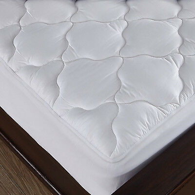 Deep Pocket Mattress Pad Quilted Cotton Top Waterproof Topper Down Alternative