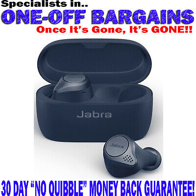 JABRA ELITE 75T WATER RESISTANT WIRELESS Bluetooth With Charging Case No Box NEW