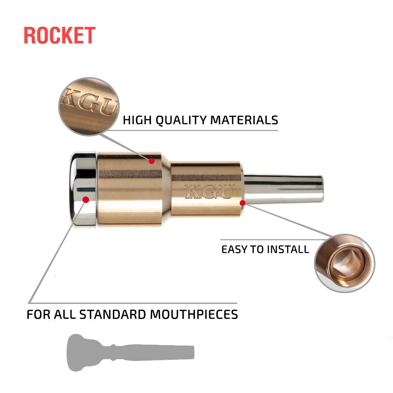 BTMC219 KGUBrass Booster for Trumpet Mouthpiece Cone Raw Brass