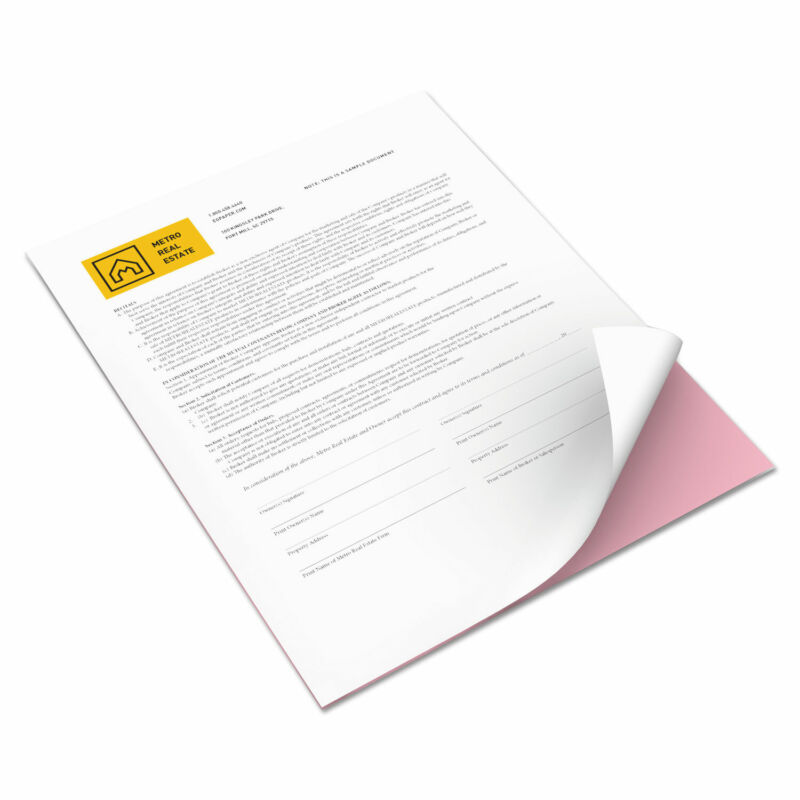 Xerox Bold Digital Carbonless Paper 8 1/2 x 11 White/Pink 5 000 Sheets/CT