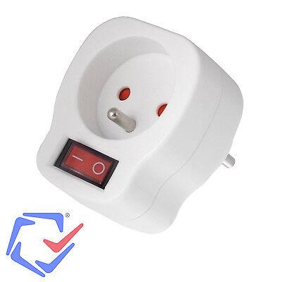 1-Fach Steckdose Schalter Schutzkontakt Steckdosenschalter Kindersicherung NEU