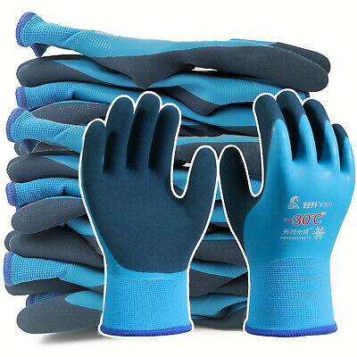 5 Pairs Safety Work Gloves Safety Glove Fully Cold Protection Waterproof Gloves