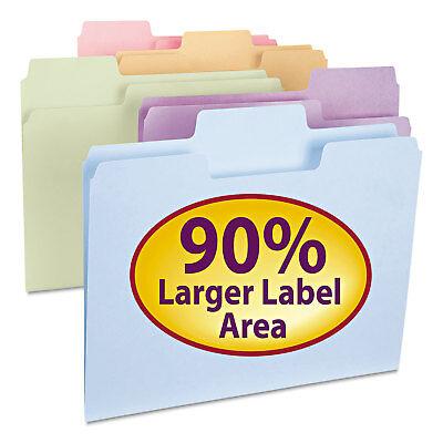 Smead Supertab File Folders 13 Cut Top Tab Letter Assorted Colors 100box 11961