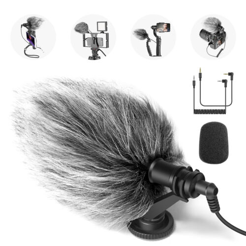 CM14 Mic Phone Mic on-Camera Video Microphone with Shock Mount