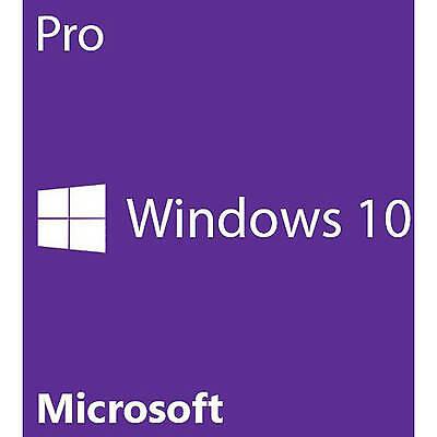 MICROSOFT WINDOWS 10 PRO 32/64 BIT GENUINE LICENSE KEY PRODUCT CODE