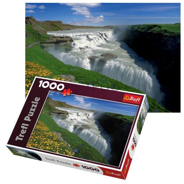 Trefl 1000 Piece Adult Large Golden Falls Iceland Waterfall Floor Jigsaw Puzzle
