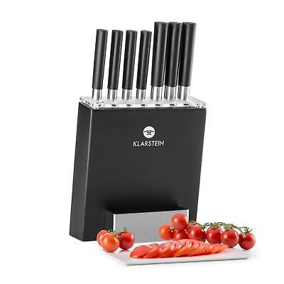 Klarstein japanisches Design 8-teilig Küchenmesser Kochmesser Set Messerblock
