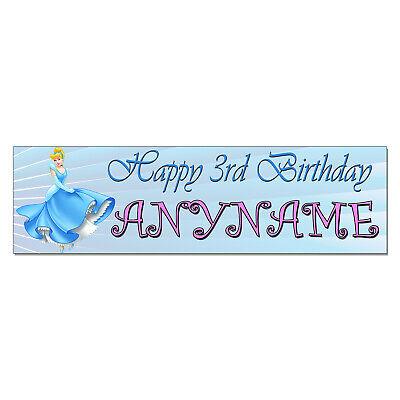 Cinderella Birthday Banner (Personalized & Custom Printed Cinderella Princess Birthday Party Banner)