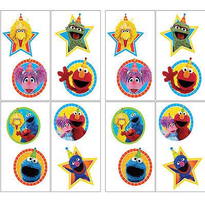 Sesame Street Temporary Tattoos Birthday Party Favors Teacher Supplies 16ct Elmo