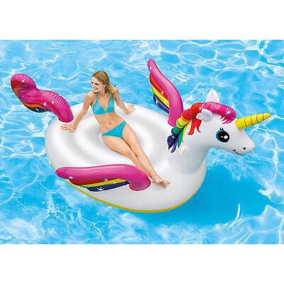Intex Mega Einhorn Schwimmliege Pool Liege Sessel Lounge Badeinsel Luftmatratze