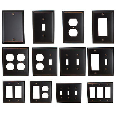 GlideRite Oil Rubbed Bronze Light Switch Cover & Duplex Outlet Wall Plates - Lightswitch Cover