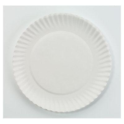 "Ajm Packaging Corp. White Paper Plates 6"" dia 100/Bag 10 Bags/Carton PP6GREWH"