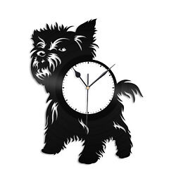 Yorkshire Terrier Vinyl Wall Clock Record Home and Kids Room Decoration Gift