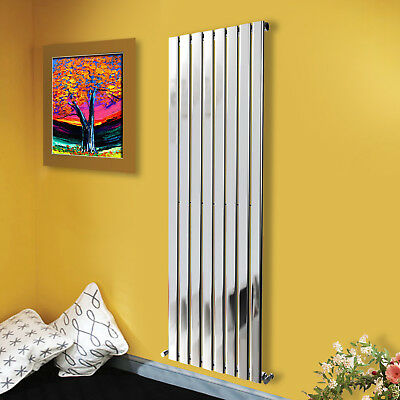 Modern Chrome Vertical Designer Flat Panel Central Heating Radiator 1800x544mm