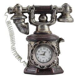 Geneva Clock Company Mini Table Top Analog Quartz Clock - Telephone