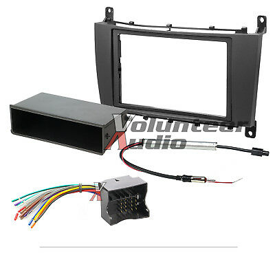 Car Radio Stereo CD Player Dash Install Mounting Trim Bezel Panel Kit + Harness for sale  Oliver Springs
