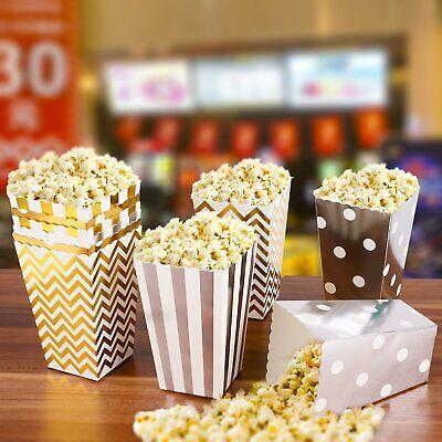 50 Stück Popcorn Boxes Popcorntüten Popcornbecher Papiertüte Popcorn Verpackung