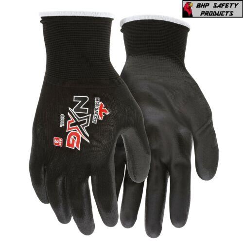 (12 Pairs) MCR Safety Polyurethane Coated Nylon Work Gloves, 13 Gauge Shell