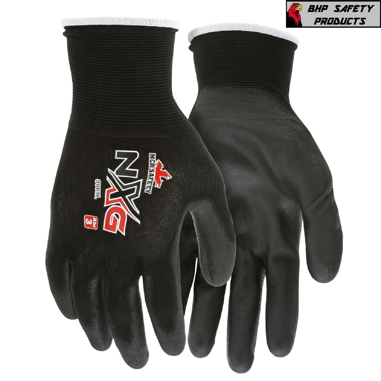 MCR Safety Polyurethane Coated Nylon Work Gloves, 13 Gauge