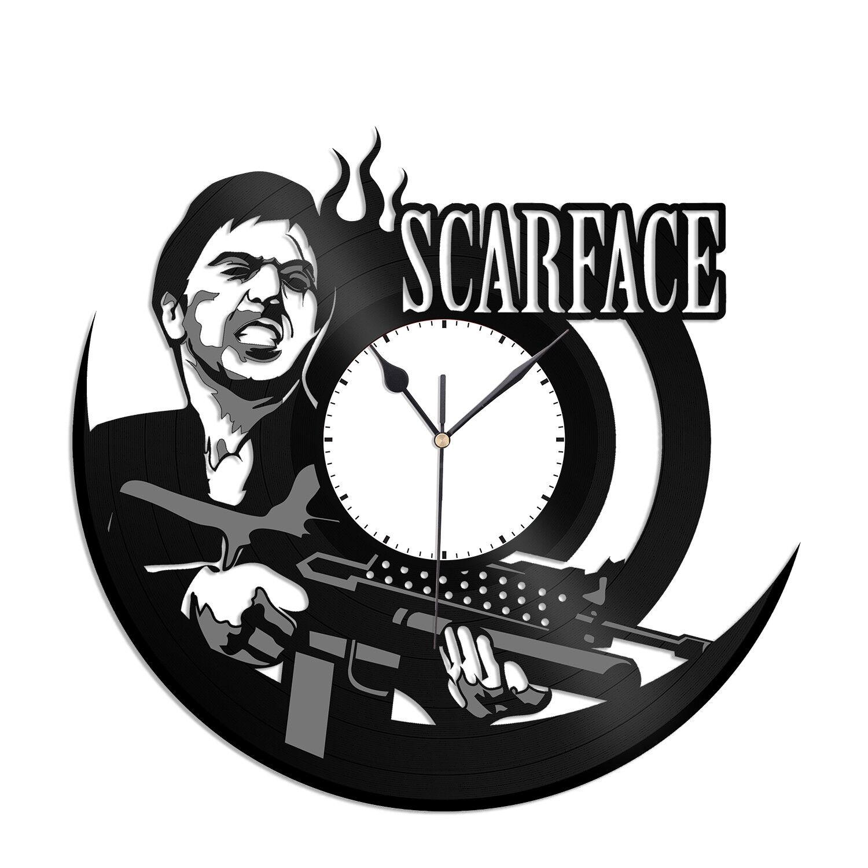 Scarface Vinyl Wall Clock Decor Unique Gift Movie Record