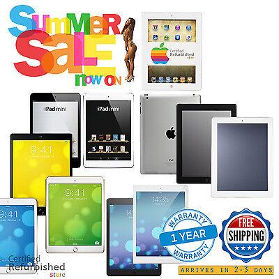 Apple iPad-Air-mini-1st-1-2nd-2-3rd-3-4th-4 Gen 16GB-32GB-64GB-128GB-256GB