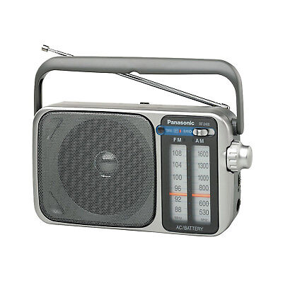 Panasonic RF-2400 Emergency Radio Portable AM/FM Analog Tuning - Silver