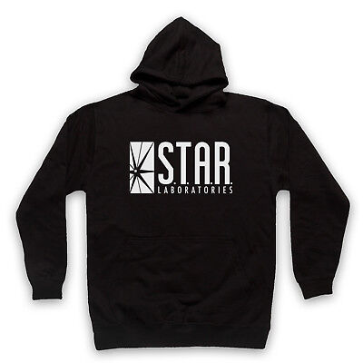 FLASH STAR UNOFFICIAL LABS LABORATORIES DC LOGO COMIC ADULTS & KIDS HOODIE