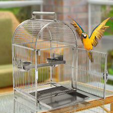 """25"""" Bird Cage Carrier Parrot Aviary House Stainless Steel Dome Top"""