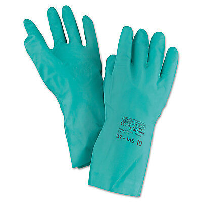 Ansell Sol-Vex Sandpatch-Grip Nitrile Gloves Green Size 10 12 Pairs 3714510