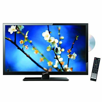"""Supersonic 22"""" LED Widescreen HDTV w/ Remote, HDMI, Built-In DVD, AC/DC - Black"""