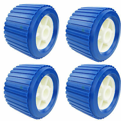 4PCS EVA+PP Boat Trailer Roller Marine Ribbed Wobble Roller 110*75*19mm