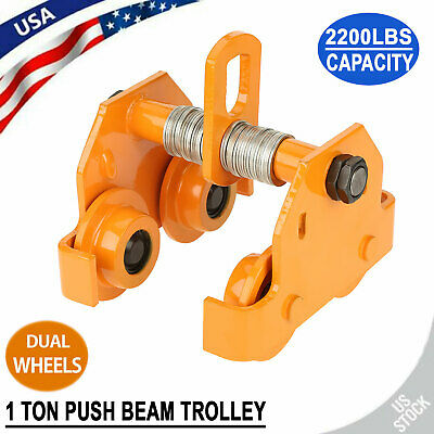 1 Ton Push Beam Trolley For I Beam Gantry Crane Hoist Winch Shop Capacity 2200lb