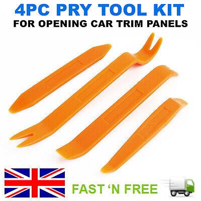 4PCS Car Radio Door Body Clip Panel Trim Dash Audio Plastic Removal Pry Tool Kit