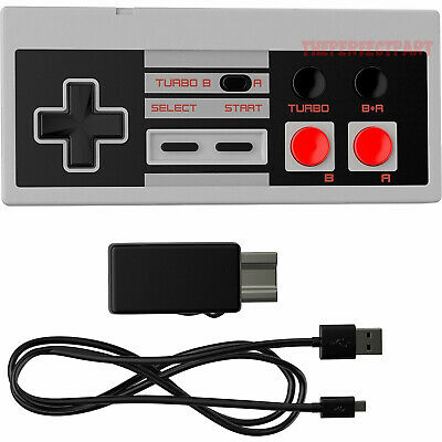 Classic Pad - Rechargeable Wireless Controller Pad Turbo For Nintendo NES Classic Mini Console