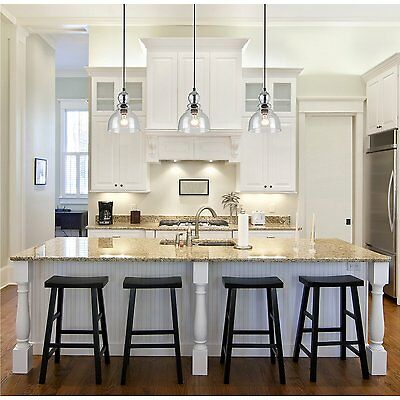 Kitchen Island Ceiling Lighting Fixture - Industrial Pendant Light Glass Ceiling Lamp Lighting Fixture Kitchen Island